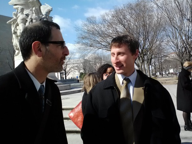 Howard Crystal (L) and Jonathan Kaufman outside the D.C. Circuit Court of Appeals.