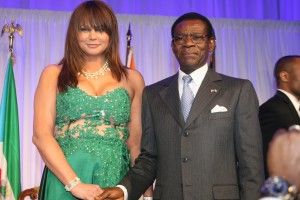 Hope Sullivan Masters with Teodoro Obiang Nguema, president of Equatorial Guinea.