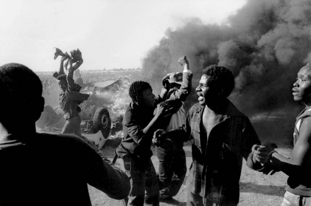 Apartheid on the ground: Anti-apartheid protest in South Africa in the 1980s.