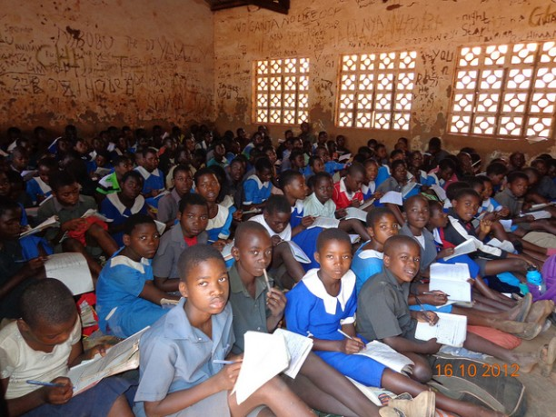 Students in a Malawi classroom. While Malawi has dramatically raised the number of children in school, most students are not learning to read.