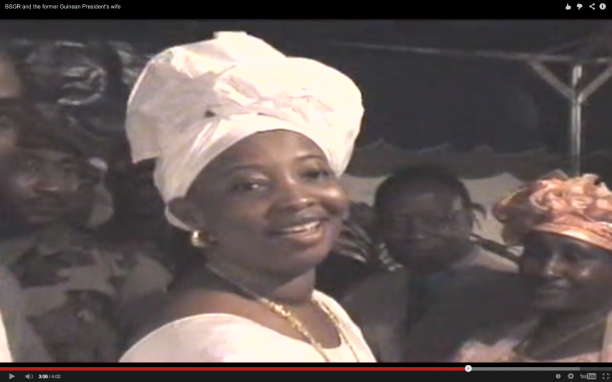 In this still image taken from a 2006 video recording, Mamadie Touré appears at a reception held in Guinea. The recording, published last year by Global Witness, showed that BSGR representatives were also present.