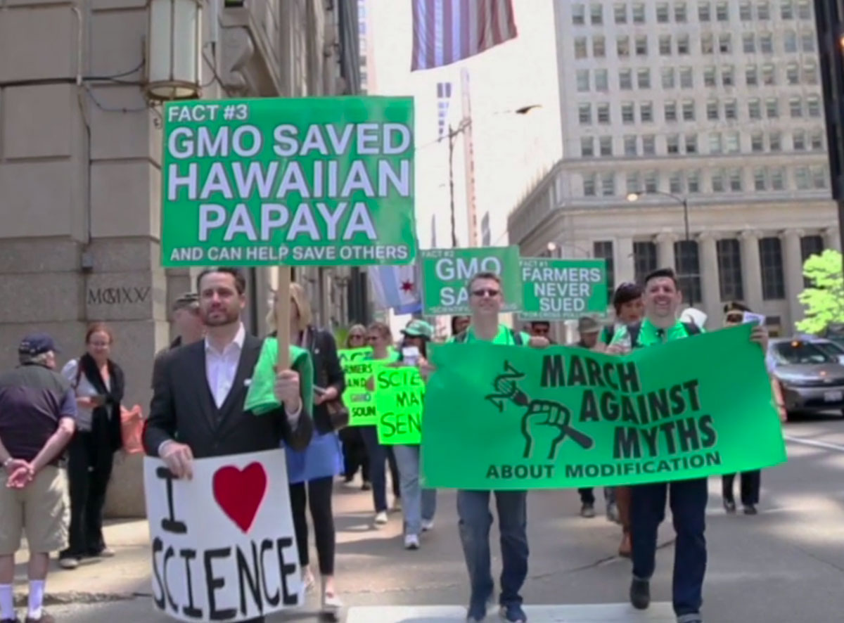 A pro-GMO demonstration.